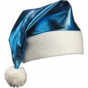 Kobalblauwe kerstmuts glimmend