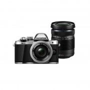 Aparat foto Mirrorless Olympus OM-D E-M10 Mark II 16 Mpx Silver Kit EZ-M1442 II R si EZ-M4015 R