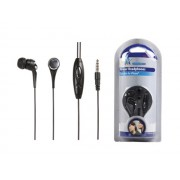 HQ HQ-HP122IE Felvevő gombos iPhone headset 4pin 3,5mm jack dugóval - fekete