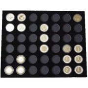 Black Silver Strike Display Insert for 42 Silver Strikes Casino Coins (Not Included)
