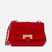 Aspinal of London Women's Lottie Micro Velvet Cross Body Bag - Scarlet
