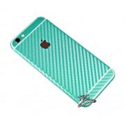 "Folie Iphone 6 / Iphone 6S ""Carbon fiber gear"" TIP CARBON GREEN + GRATUIT FOLIE PROTECTIE ECRAN"