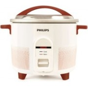 Philips HL1666/00 Electric Rice Cooker(2.2 L, White, Red)