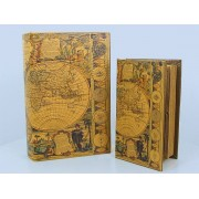 Könyv doboz 2 db (föld)