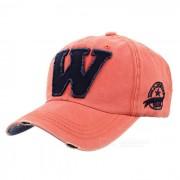 Sombrero unisex de moda de la vendimia del casquillo de beisbol de W - mandarina + negro