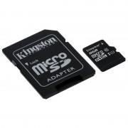 Card Kingston microSDHC 8GB Clasa 10 UHS-I 45MBs cu adaptor SD
