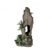 Dekorace jeskyň s rostlinami 37cm