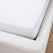 Domoline Luxus-Spannbetttuch, Weiss, 180-200 x 200 cm