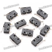 DIY 0.5A 125V / 250V micro interruptor - negro (10PCS)