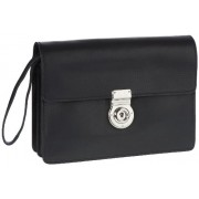 Leonhard Heyden Mens Tradition Flapover Bag Black