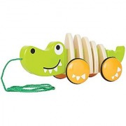 Hape - Walk-A-Long Croc Wooden Pull Toy