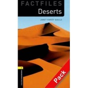 Oxford Bookworms Library Factfiles: Level 1:: Deserts audio CD pack by Janet Hardy-Gould
