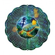 Next Innovations 11.5 by 11.5-Inch Sea Turtle Jim Mazzota Eyecatcher Wind Spinner Medium