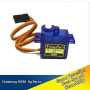 Generic 4 pcs a Set High Torque SG90 9g Servos Plastic Motor for Helicopter Model Airplane Mini Motors