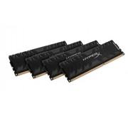 HyperX HX321C11PB3K4/32 Predator Black Modulo di Memoria da 32 GB, Kit da 4x8 GB, 2133 MHz, DDR3 CL11 DIMM