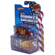 Hot Wheels 2008 Connect Cars Series 1:64 Scale Die Cast Car with Display Case #31 of 50 - California '40s Woodie Station Wagon by Connect Cars