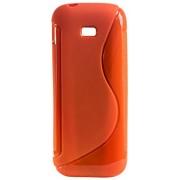 Purple Eyes New Sline Silicon Back case for Samsung Guru Music 2 B310E (Orange)
