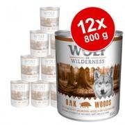 Voordeelpakket: Wolf of Wilderness 12 x 800 g - Oak Woods - Wildzwijn