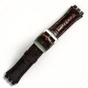 Curea ceas tip Swatch din piele naturala nr. 205 [19-SW21]