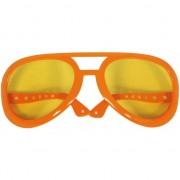 Mega grote zonnebril oranje