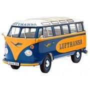 Revell - Modellino Auto Vw T1 Samba Bus Lufthansa Scala 1:24