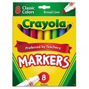 Crayola - Classic Markers,Conical Tip, 8-Count, Assorted, Sold as 1 Set, CYO 587708
