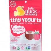 Little Duck Organics Freeze Dried Fruit and Yogurt - Tiny Yogurts - Organic - Raspberry and Coconut