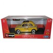 Bburago 2011 Star 1:24 Scale Yellow Fiat 500 Taxi