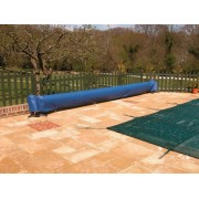 Blue Deluxe Reel Protector Cover for Swimming Pools by Plastica