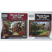 Victorian Cottage & Spring Lake Cottage Puzzles Picture Frame Cottages 2 Puzzles total 250 Pieces Each 10 x 14