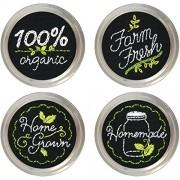 Garden Market Jar Topper Embroidery Kit-Set Of 4