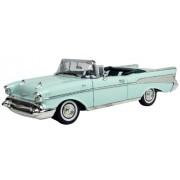 1957 Chevrolet Bel Air Convertible [Motormax 73175], Negro con llamas, 1:18 Die Cast