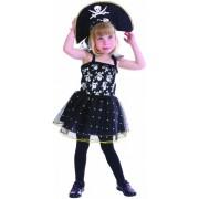 Disfrace pirata caveira menina 1 - 2 anos