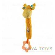 Бебешка играчка с гризалка жираф Babyono 1333