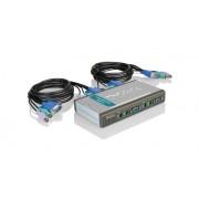 """Switch KVM 4 porturi, PS/2, 2 seturi cabluri incluse, D-Link """"DKVM-4K"""""""