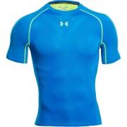 Under Armour Men's Armourvent Compression Short Sleeve Training T-Shirt - Blue Jet/High-Vis Yellow - XXL
