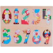 Puzzled Peg Puzzle Large - Numbers Wooden Toys