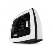 Gabinete NZXT Manta con Ventana, mini-iTX, USB 3.0, sin Fuente, Negro/Blanco
