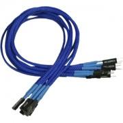 Nanoxia Front Panel cable set 30cm, blue/black