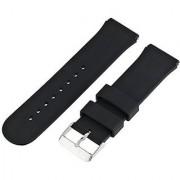 22mm Universal Rubber Watch Band VONOTO Black Sport Silicone Smart Watch Replacement Bands Watch Bracelet for Samsung R380 R381 R382 LG W100 W110 W150 ASUS Zenwatch (Black)