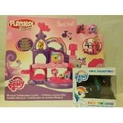 My Little Pony Playskool Friends Musical Celebration Castle & MLP Rainbow Dash Inverted Black Exclusive Vinyl Figure