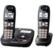 Panasonic KX-TG6592T 2-Handsets Cordless Phone Titanium Black