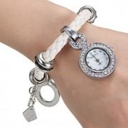 Mulheres Relógio de Moda Quartz PU Banda Branco marca-