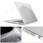 Mr.northjoe Ultra Slim Crystal Hard Case + Keyboard Cover + Anti-dust Plug Set for MACBOOK AIR 11.6""