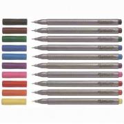 Liner 0.4 mm Grip set Faber-Castell cutie triunghiulara 10 culori