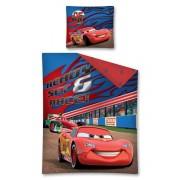 Lenjerie de pat,Cars, ready set race, albastra, 140 x 200 cm
