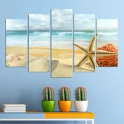 Декоративeн панел за стена - импресия с морска звезда Vivid Home