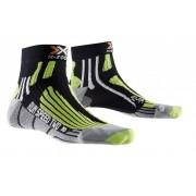 X-Socks Run Speed Two Short Hardloopsokken groen/zwart 45/47 2017 Sokken