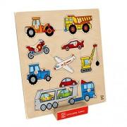 Hape Beleduc E6319 Forme E Veicoli Vehicles Knob Puzzle