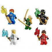 LEGO® NinjagoTM Ninjas set of 5 - Lloyd, Cole, Jay, Kai, Zane Techno Robe minifigures (2014)